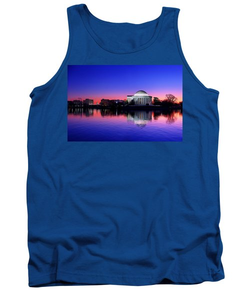 Clear Blue Morning At The Jefferson Memorial Tank Top