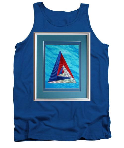 Tank Top featuring the mixed media Close Encounter by Ron Davidson