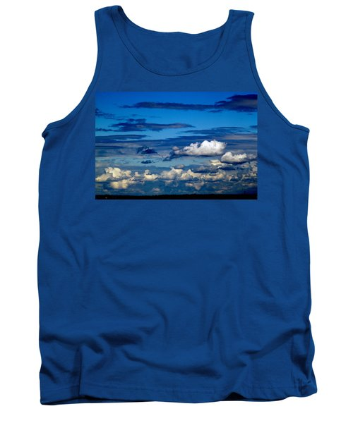Color Burned Clouds Tank Top