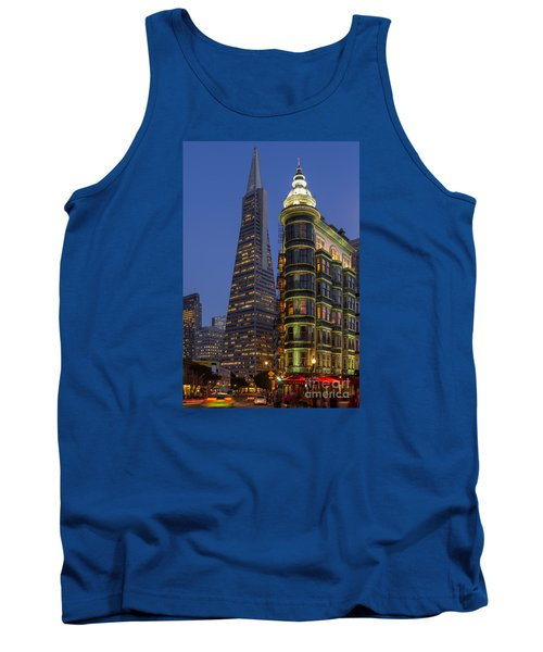 Columbus And Transamerica Buildings Tank Top