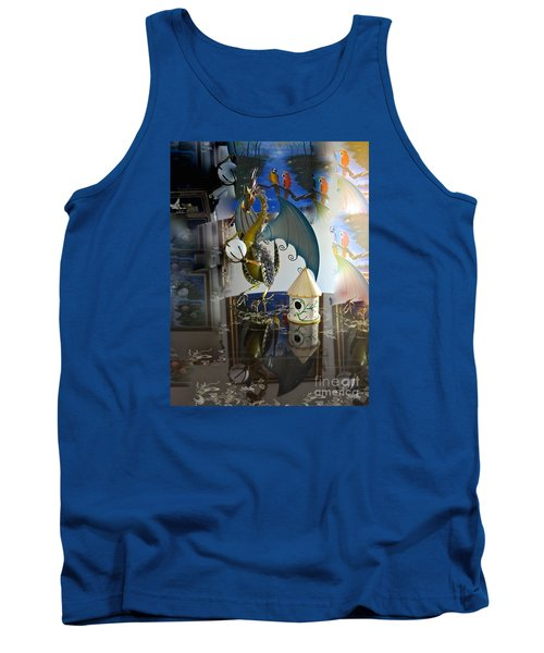 Conglomerate Or Camouflage Tank Top