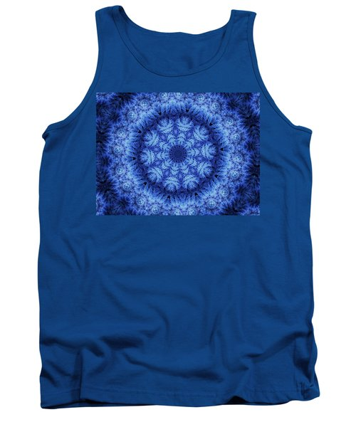 Tank Top featuring the digital art Cool Down Series #1 Snowflake by Lilia D