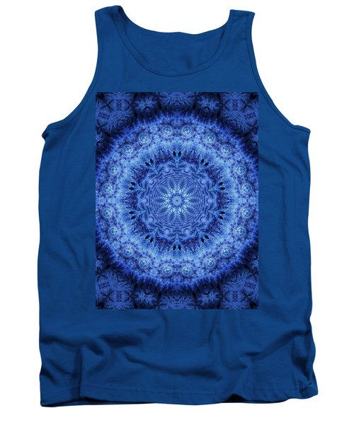 Tank Top featuring the digital art Cool Down Series #2 Frozen by Lilia D