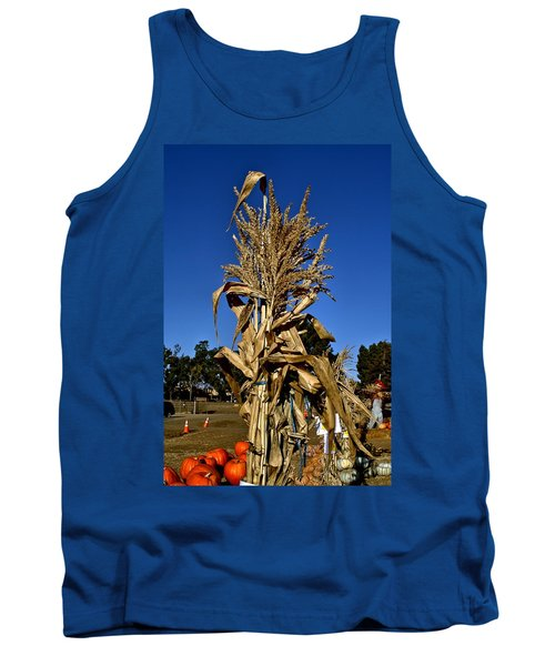 Tank Top featuring the photograph Corn Stalk by Michael Gordon