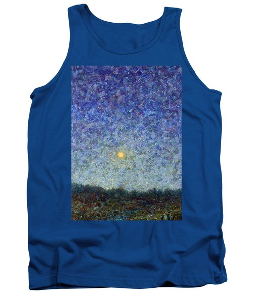 Tank Top featuring the painting Cornbread Moon by James W Johnson