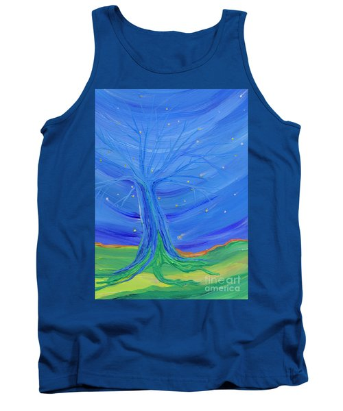 Tank Top featuring the painting Cosmic Tree by First Star Art