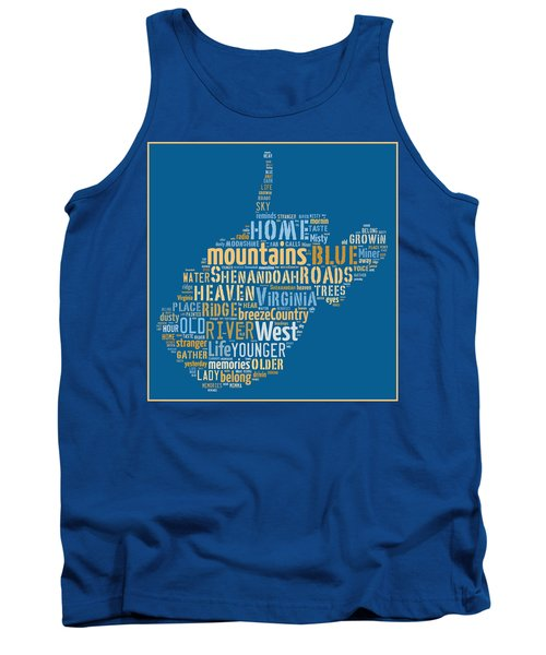 Country Roads 3 Tank Top by Paulette B Wright