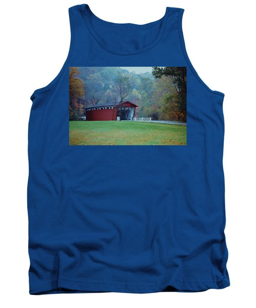 Tank Top featuring the photograph Covered Bridge by Diane Alexander