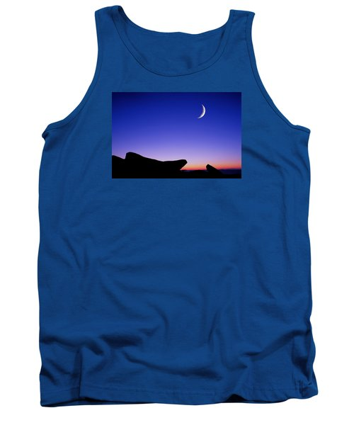Crescent Moon Halibut Pt. Tank Top by Michael Hubley