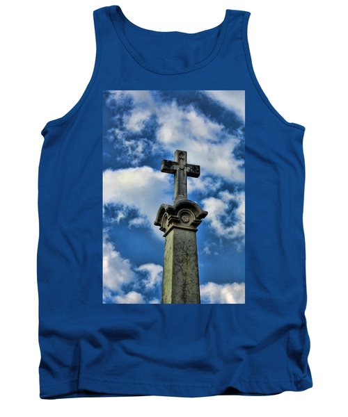 Tank Top featuring the photograph Cross Face 3 by Lesa Fine