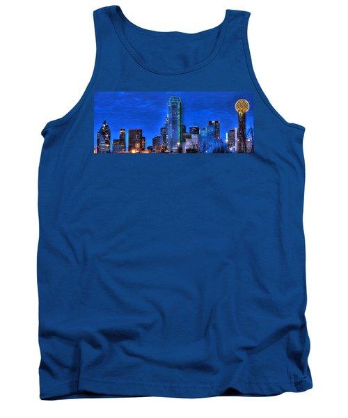 Dallas Skyline Hd Tank Top by Jonathan Davison