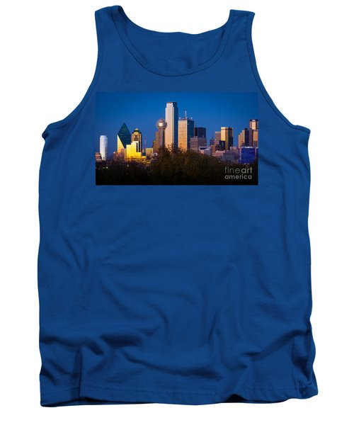 Dallas Skyline Tank Top by Inge Johnsson