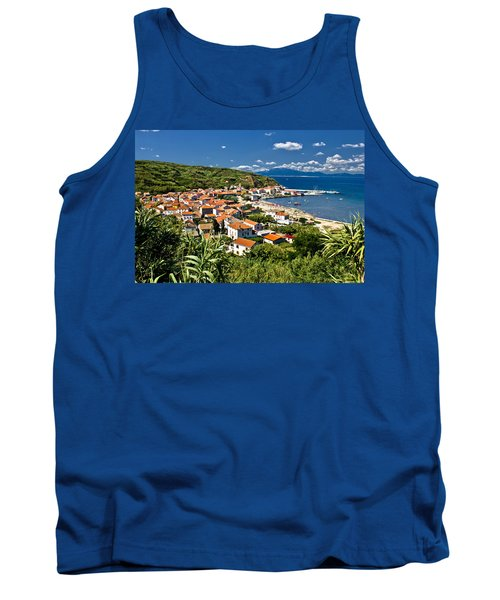 Dalmatian Island Of Susak Village And Harbor Tank Top by Brch Photography