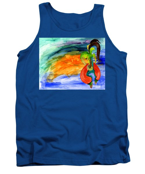 Tank Top featuring the painting Dancing Tree Of Life by Mukta Gupta