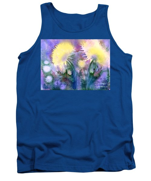 Tank Top featuring the painting Dandelions by Teresa Ascone