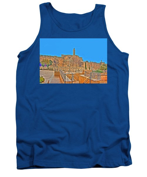 Tank Top featuring the photograph Davids Citadel - Israel by Doc Braham