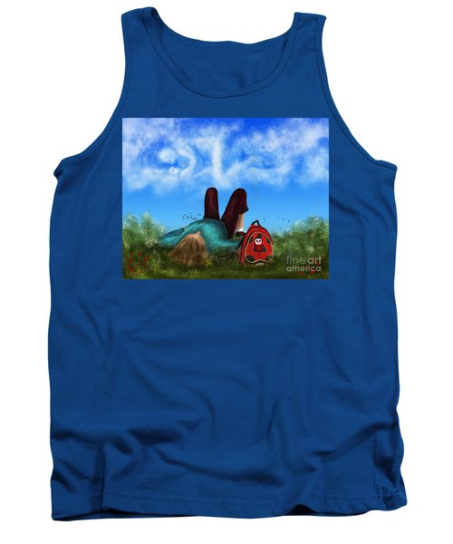 Tank Top featuring the digital art Daydreaming by Rosa Cobos