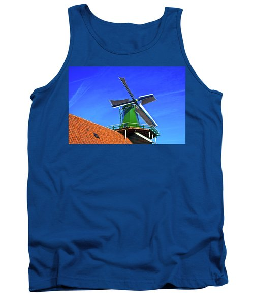Tank Top featuring the photograph De Huisman Spice Mill by Jonah  Anderson