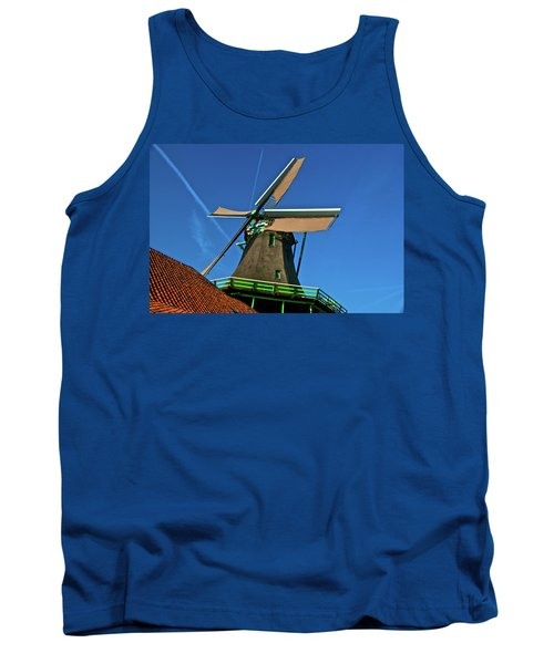 Tank Top featuring the photograph De Kat Blue Skies by Jonah  Anderson