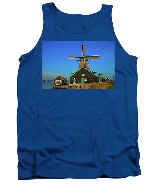 Tank Top featuring the photograph De Kat On De Zaan by Jonah  Anderson