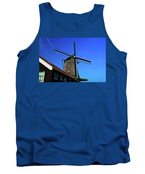 Tank Top featuring the photograph De Zoeker Blue Skies by Jonah  Anderson