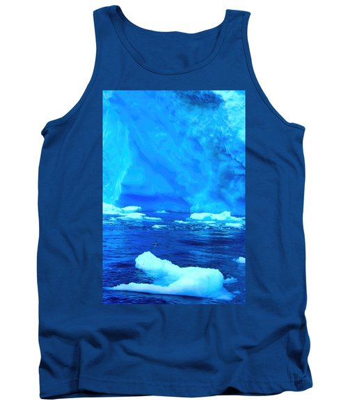 Tank Top featuring the photograph Deep Blue Iceberg by Amanda Stadther