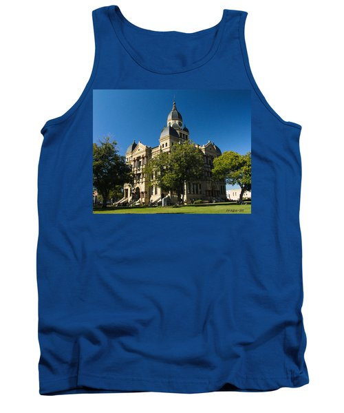 Denton County Courthouse Tank Top by Allen Sheffield