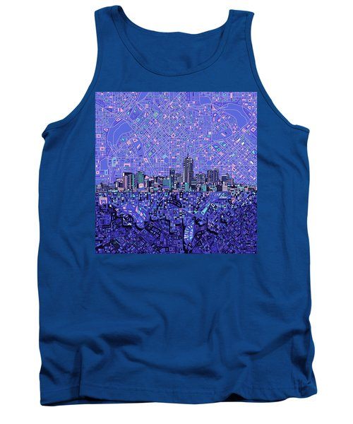 Denver Skyline Abstract 4 Tank Top