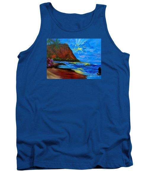 Diamond Head Blue Tank Top by Jenny Lee