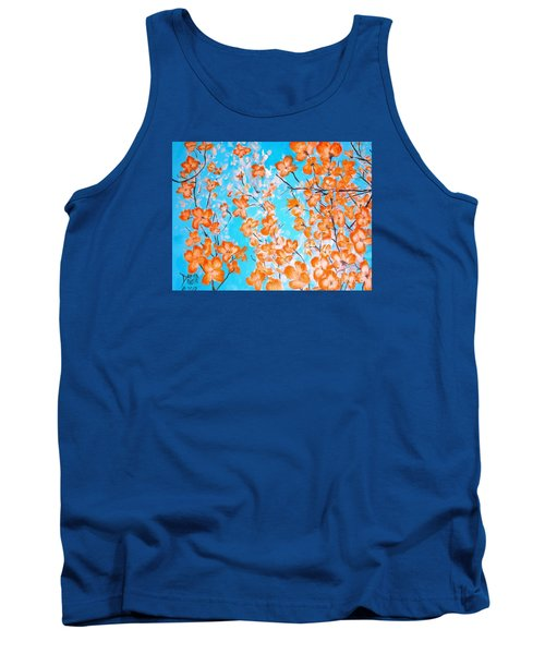 Tank Top featuring the painting Dogwoods by Donna Dixon