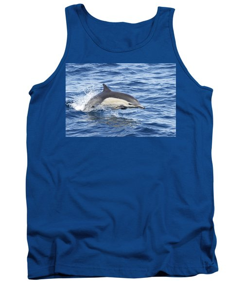 Tank Top featuring the pyrography Dolphin At Play by Shoal Hollingsworth