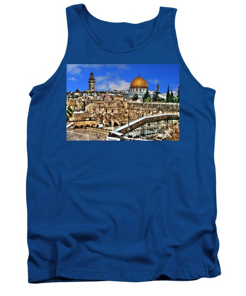 Tank Top featuring the photograph Dome Of The Rock by Doc Braham