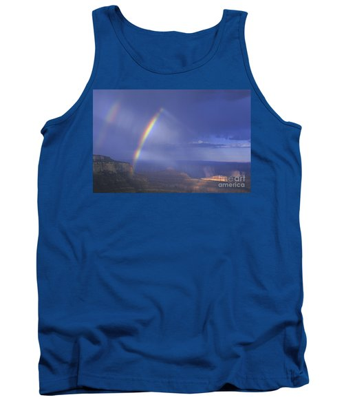Double Rainbow At Cape Royal Grand Canyon National Park Tank Top