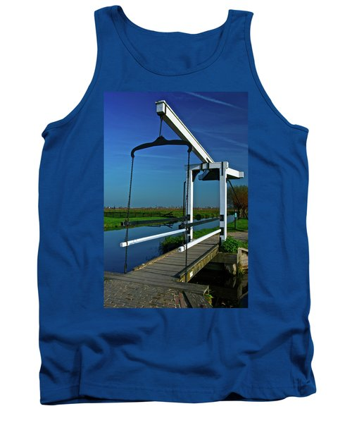 Tank Top featuring the photograph Drawbridge At Zaanse Schans by Jonah  Anderson