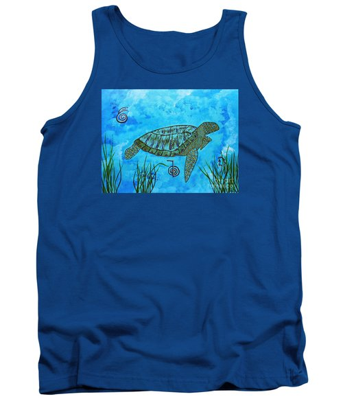 Emotional Healing With The Sea Turtle Tank Top