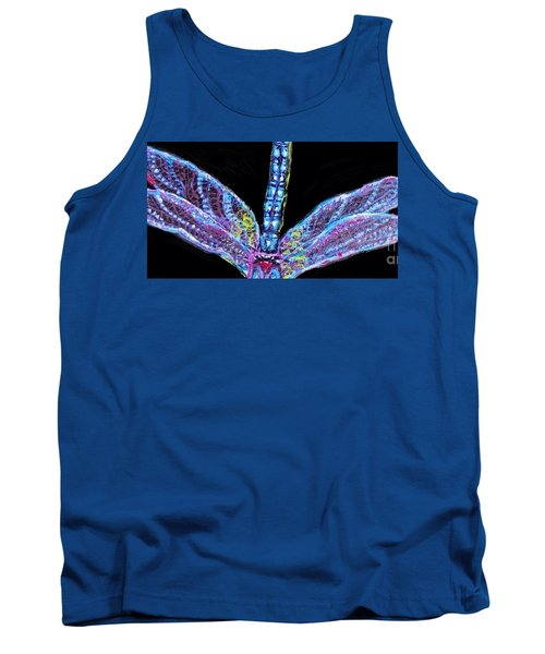 Ethereal Wings Of Blue Tank Top by Kimberlee Baxter