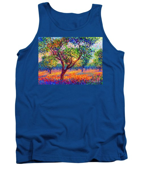 Tank Top featuring the painting Evening Poppies by Jane Small