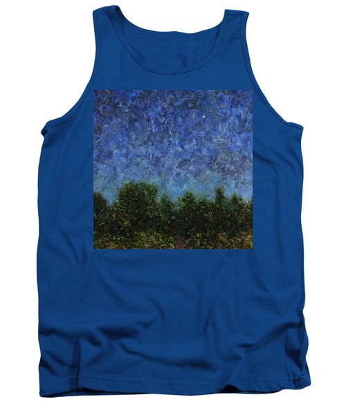 Tank Top featuring the painting Evening Star - Square by James W Johnson