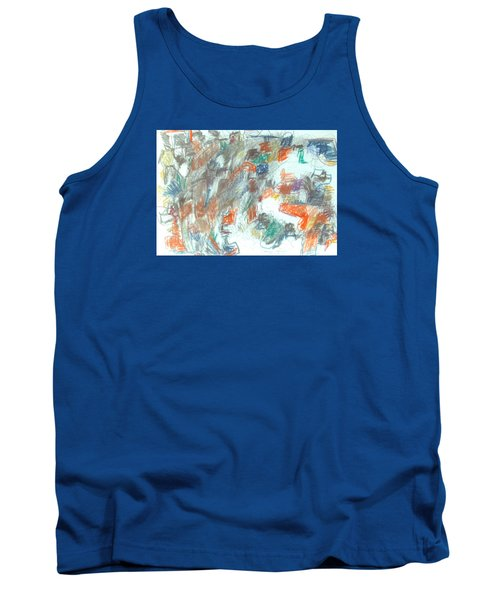 Tank Top featuring the mixed media Express Graphic by Esther Newman-Cohen