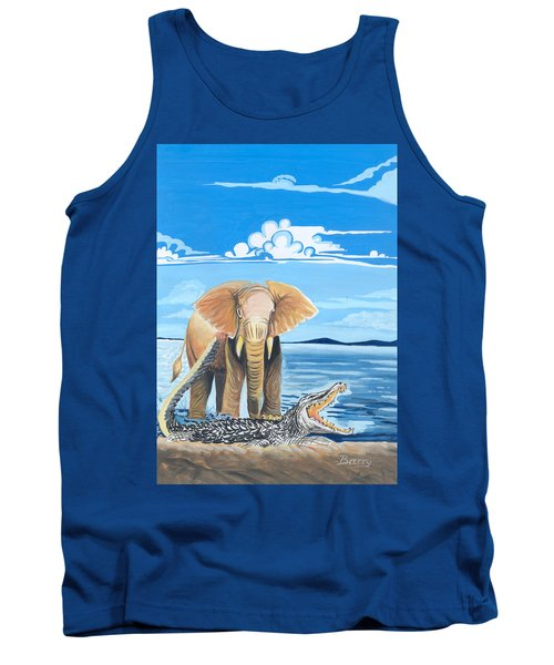 Faune D'afrique Centrale 02 Tank Top by Emmanuel Baliyanga