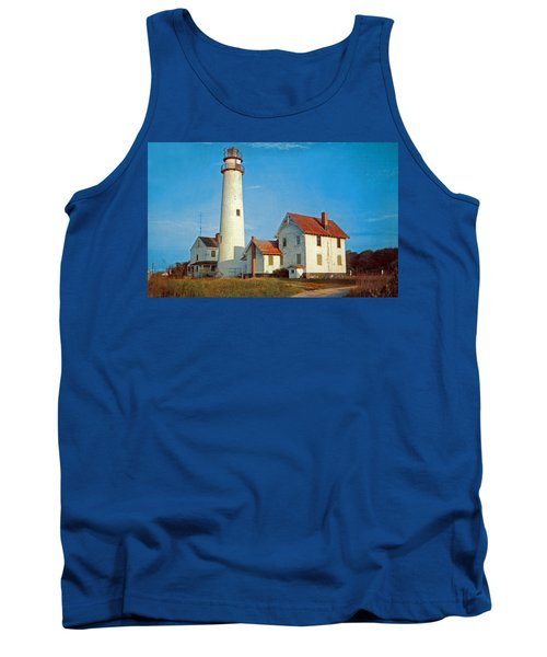 Fenwick Island Lighthouse 1950 Tank Top by Skip Willits