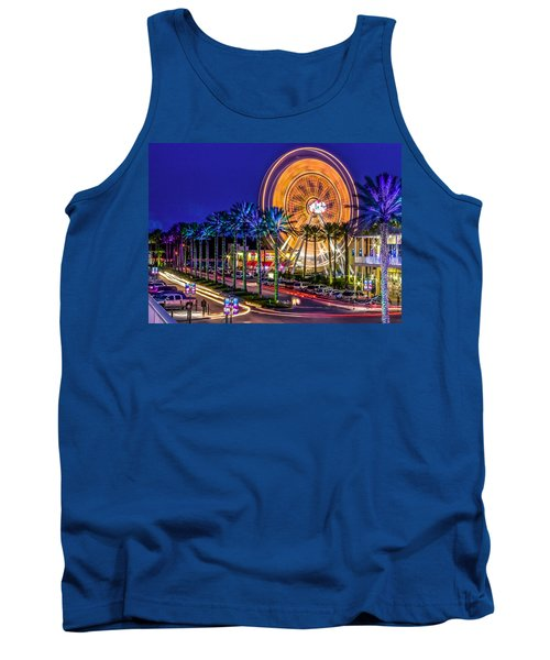 Ferris Wheel At The Wharf Tank Top by Rob Sellers