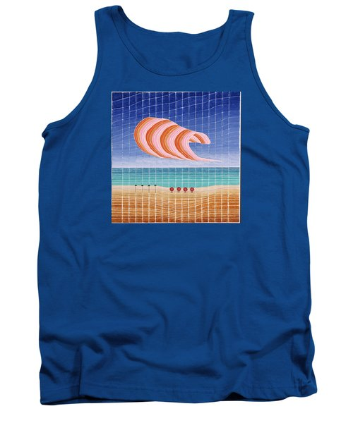 Five Beach Umbrellas Tank Top