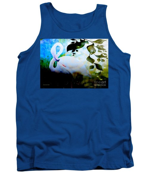 Tank Top featuring the photograph Flamingo by Annie Zeno