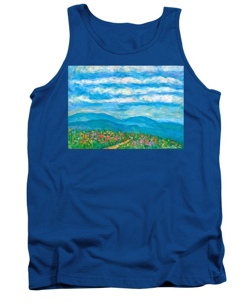 Flower Path To The Blue Ridge Tank Top