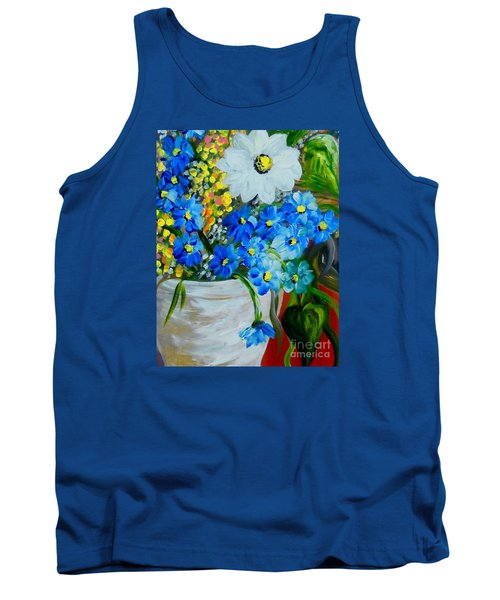 Flowers In A White Vase Tank Top by Eloise Schneider