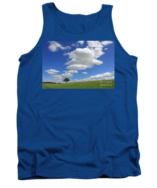 Fluffy Clouds Over Epsom Downs Surrey Tank Top