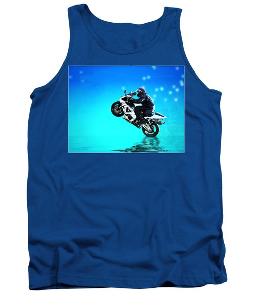 Tank Top featuring the photograph Flying Low One More Time On Two Wheels by Joyce Dickens