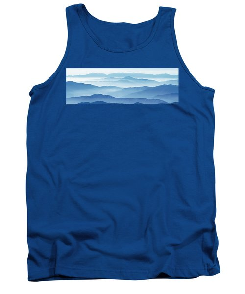 Fog Mountains Nagano Japan Tank Top