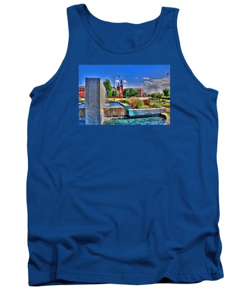 Fountain On Ray Tank Top